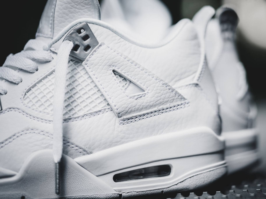 Basket Air Jordan IV 4 Retro Blanche Pure Money 2017 femme (2)