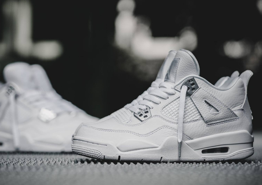 Basket Air Jordan IV 4 Retro Blanche Pure Money 2017 femme (3)