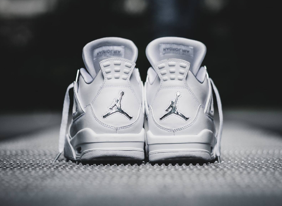 Basket Air Jordan IV 4 Retro Blanche Pure Money 2017 femme (5)