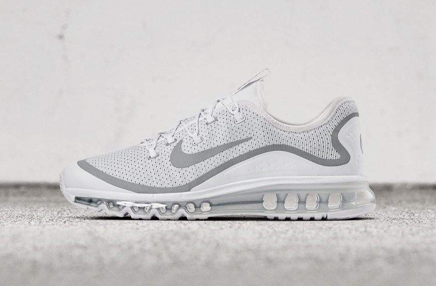 Basket Nike Air Max More White Metallic Silver (1)