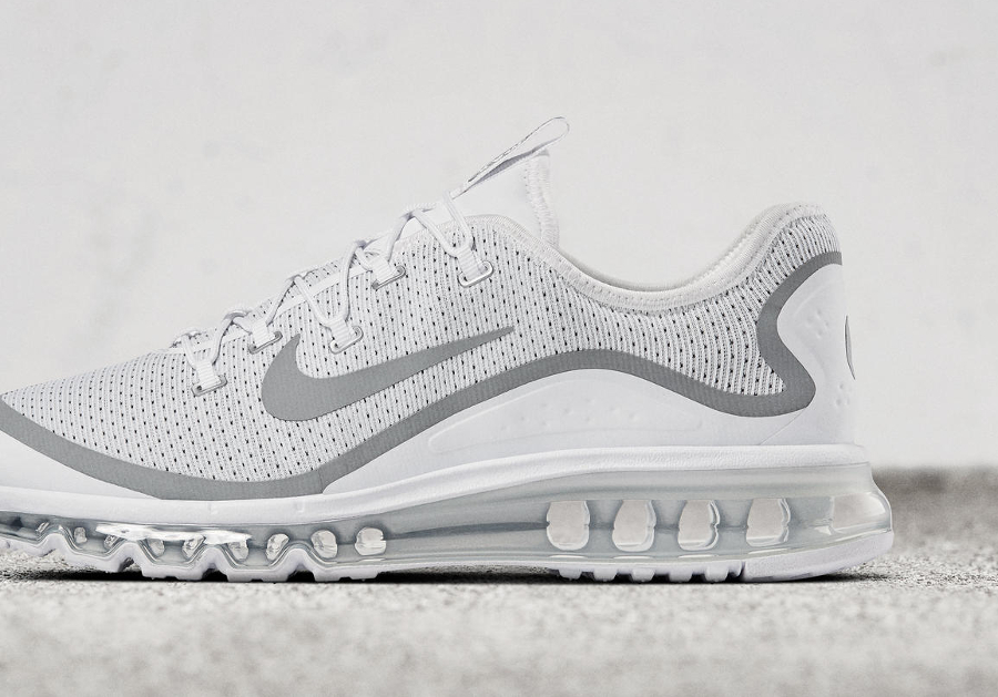 Basket Nike Air Max More White Metallic Silver (2)