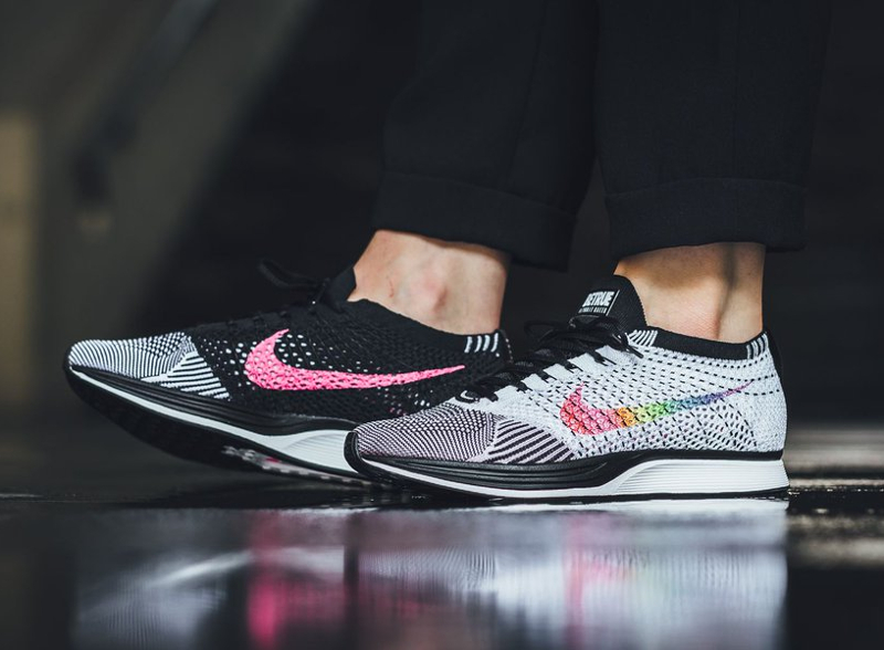 official photos a26ee 4a859 basket-nike-flyknit-racer White-Multi-Color-Black-Pink