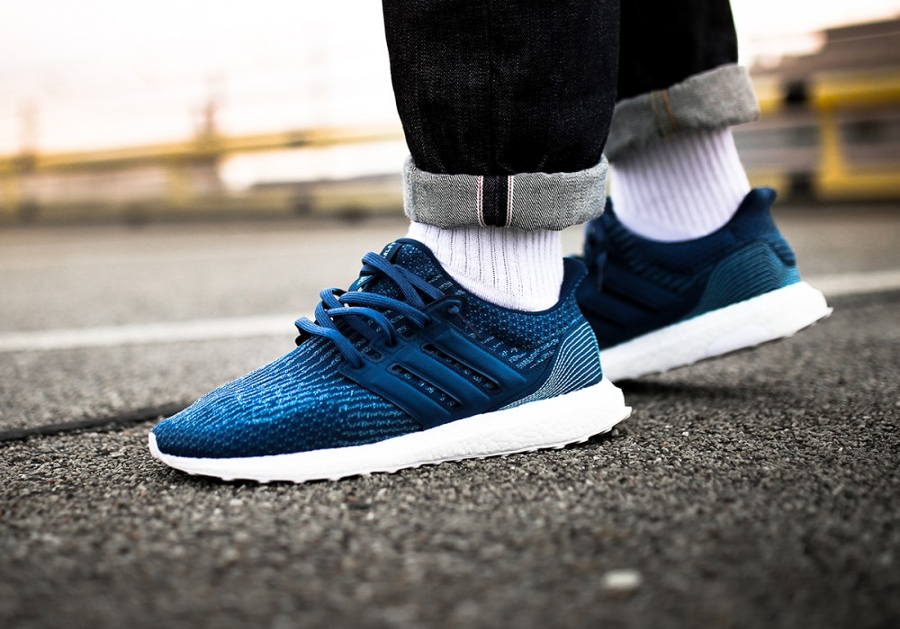 Basket Parley x Adidas Ultra Boost Primeknit Blue Night (1)