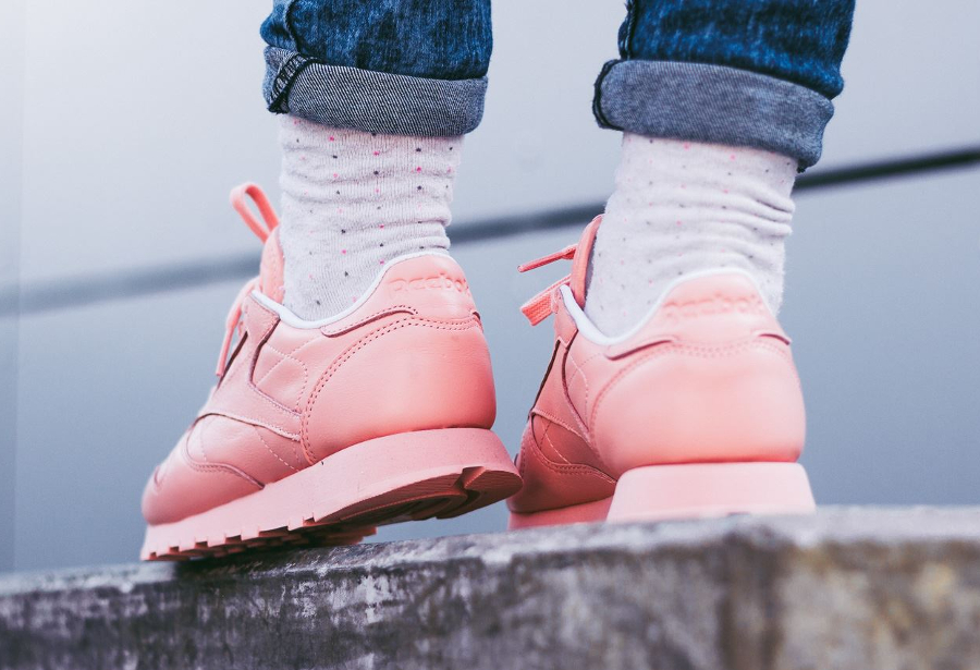 Basket Reebok Classic Leather W Patina Pink (2)