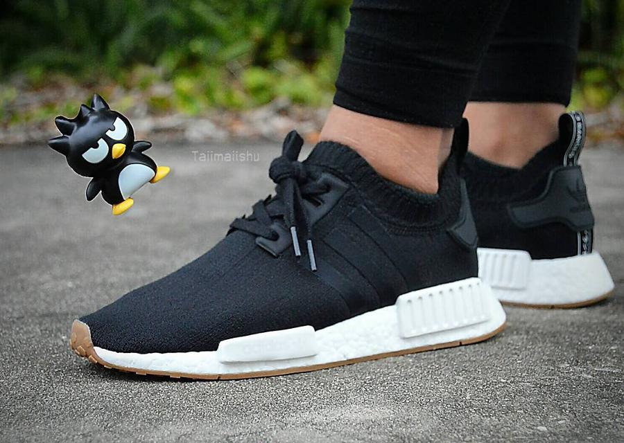 sale retailer 9601a 2fe8c Chaussure Adidas NMD R1 Primeknit Gum Black (3)