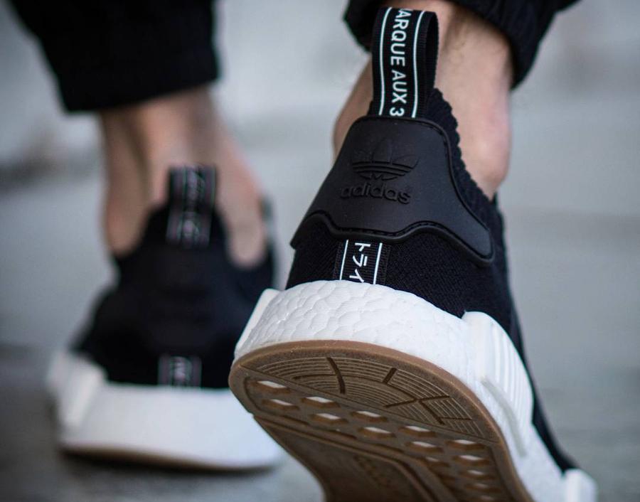 Chaussure Adidas NMD R1 Primeknit Gum Black (5)