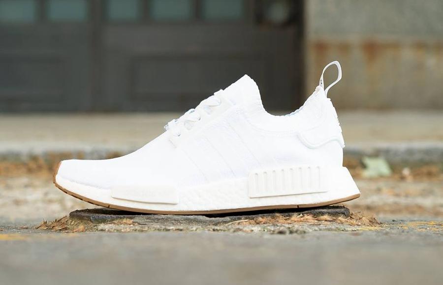 Chaussure Adidas NMD R1 Primeknit Gum White (1)