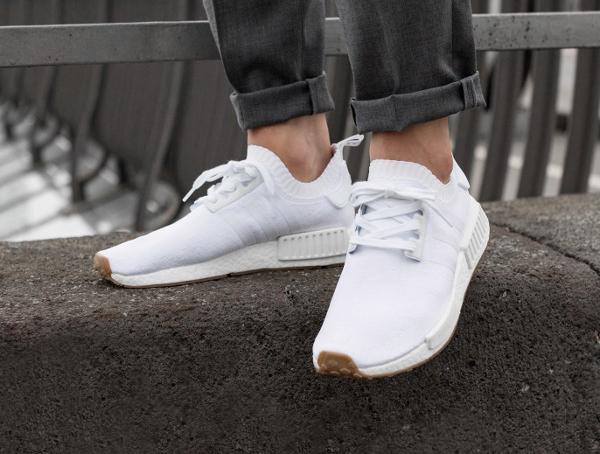 Chaussure Adidas NMD R1 Primeknit Gum White (2)
