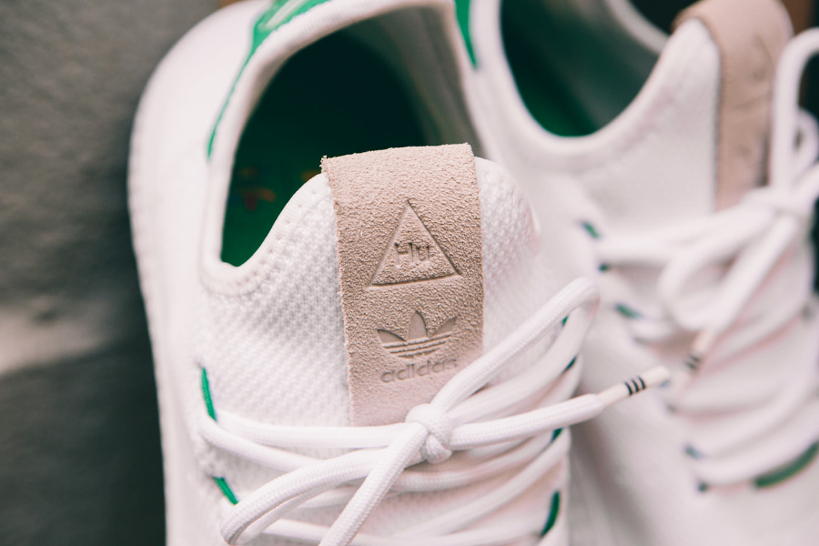 Chaussure Adidas Pharrell Tennis Hu White Green (3)