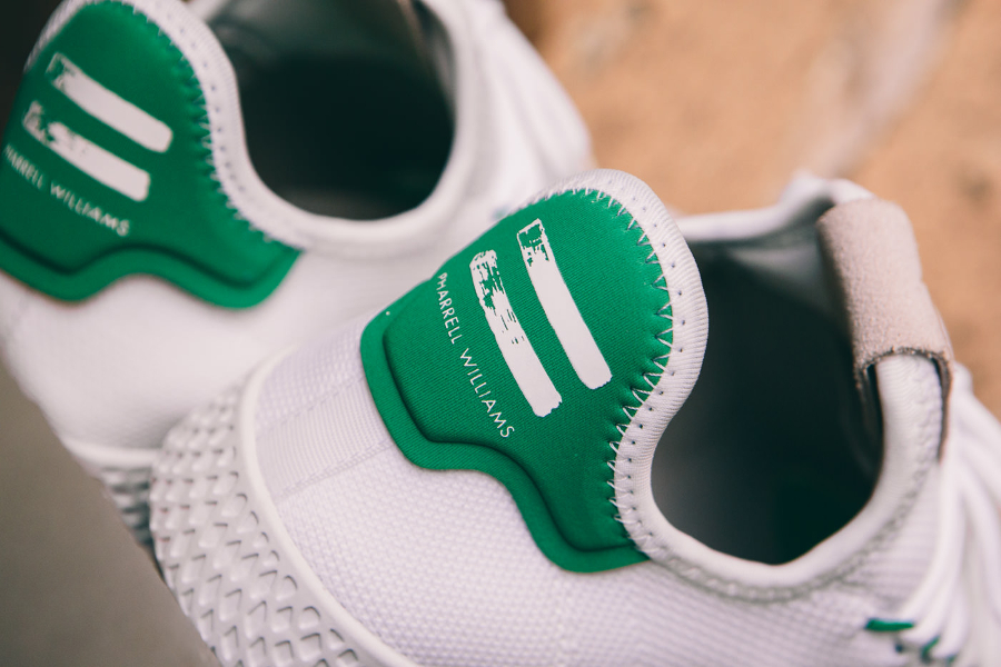 Chaussure Adidas Pharrell Tennis Hu White Green (4)