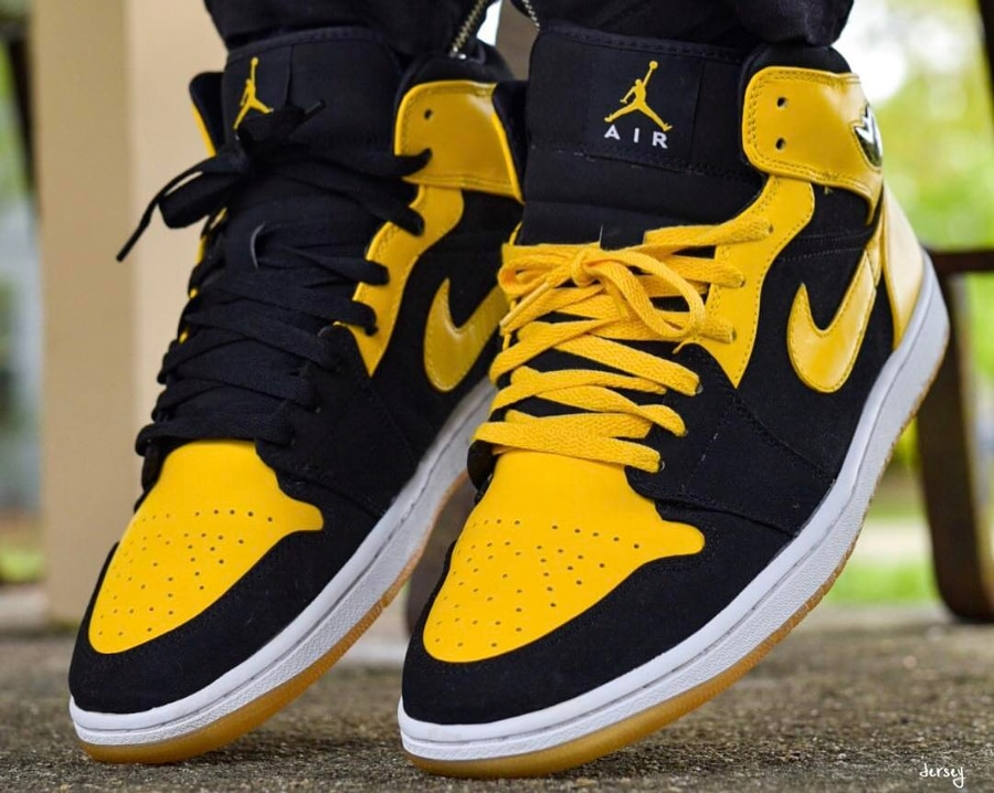 air jordan 1 retro high femme jaune
