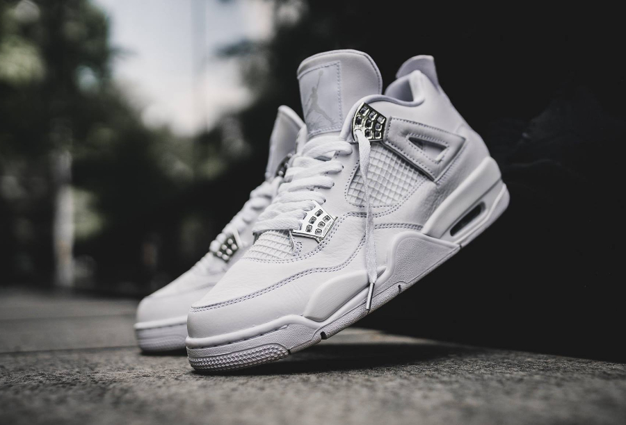 Chaussure Air Jordan IV 4 Retro Blanche Pure Money 2017 homme (2)