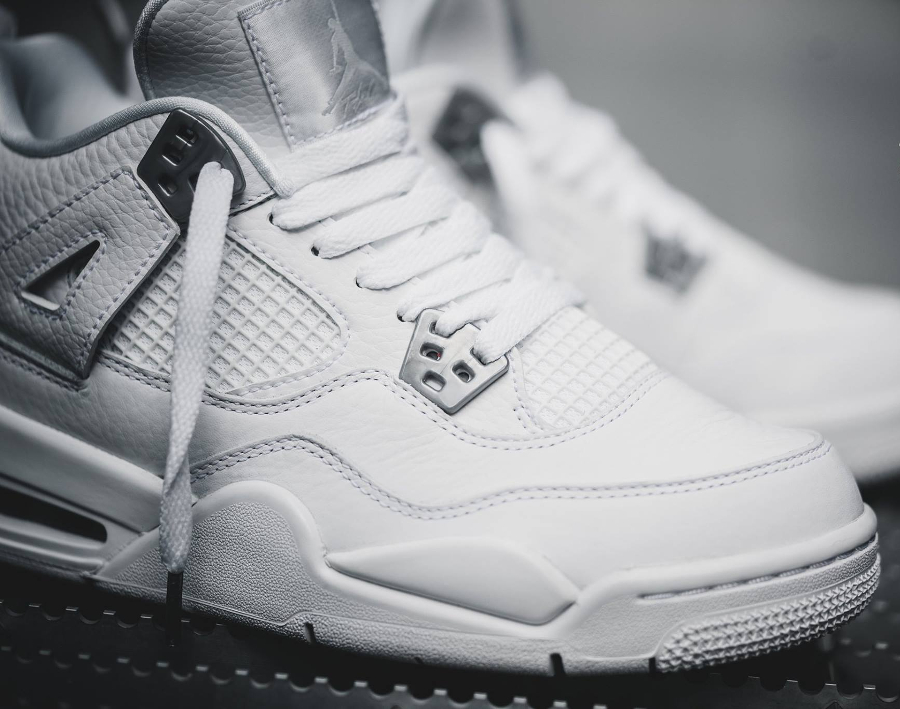 Chaussure Air Jordan IV 4 Retro Blanche Pure Money 2017 homme (5)
