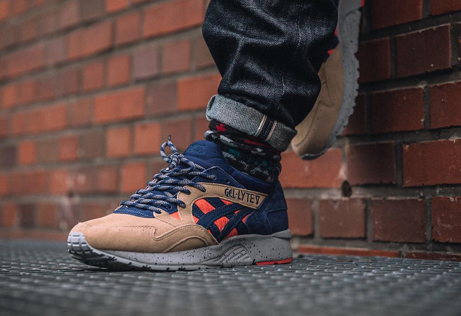 best service 17c0d 06d14 Asics Gel Lyte V 5 'Trail' Peach Indigo Blue