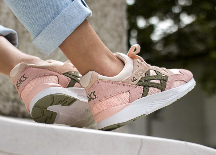 Chaussure Asics Gel Lyte V femme Rose Evening Sand Aloe (3)