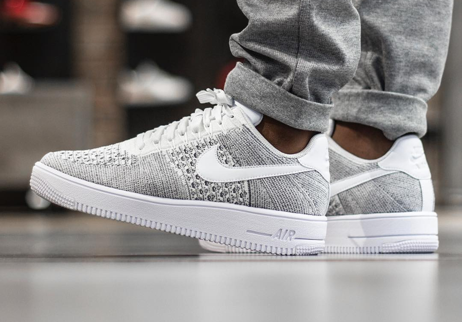 usine authentique d5986 5b9a9 Nike Air Force 1 Ultra Flyknit Low Gris 'Cool Grey' homme