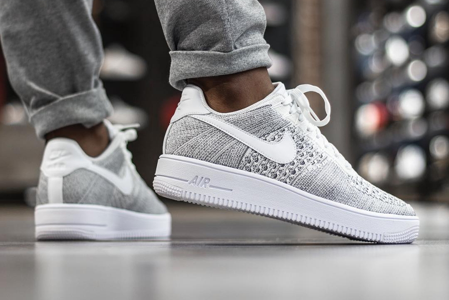 usine authentique e4756 57beb Nike Air Force 1 Ultra Flyknit Low Gris 'Cool Grey' homme