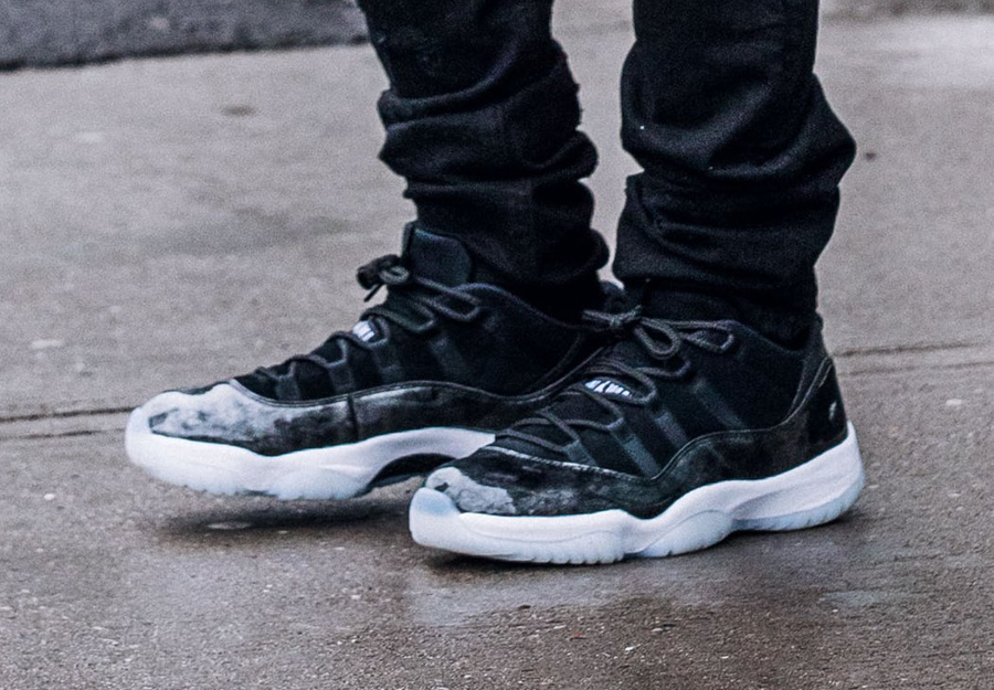 100% genuine on feet at great prices Air Jordan 11 XI Retro Low Noir 'Barons' : où l'acheter ?