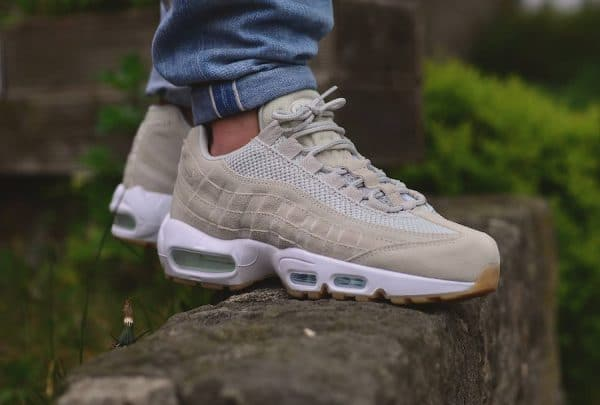 Où acheter la Nike Air Max 95 PRM Light Bone (daim beige) ?
