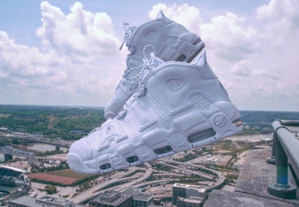 Chaussure Nike Air More Uptempo Blanche Triple White (1)