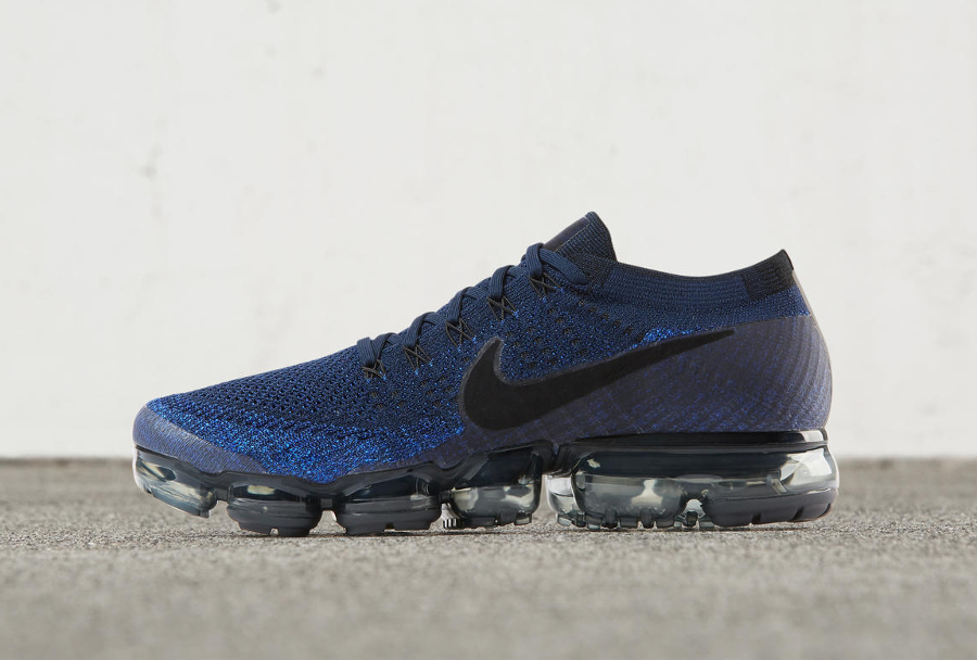 Chaussure Nike Air Vapormax Flyknit Dark Blue Day to Night (2)