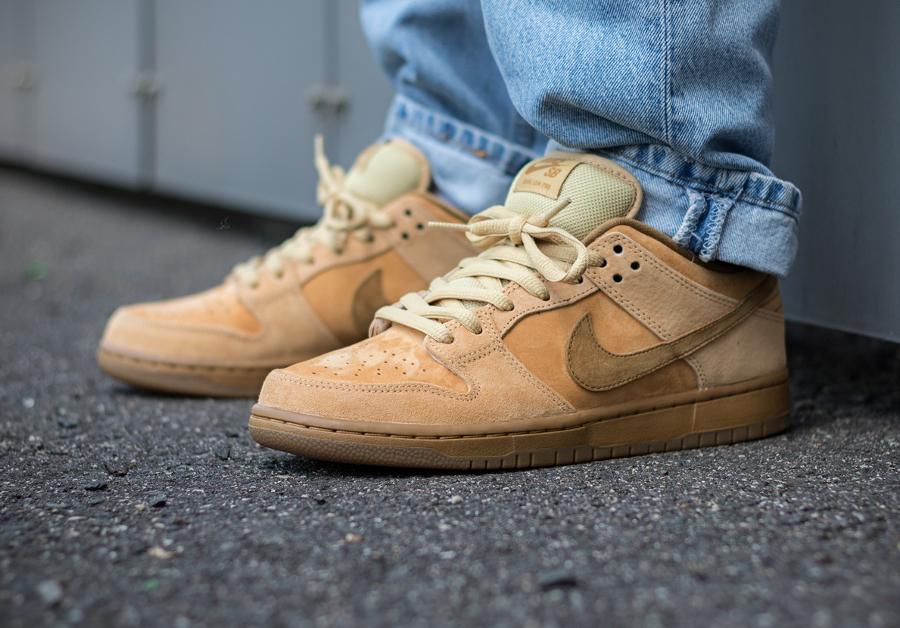 Chaussure Nike Dunk Low Pro SB TRD QS Wheat Retro 2017 (2)