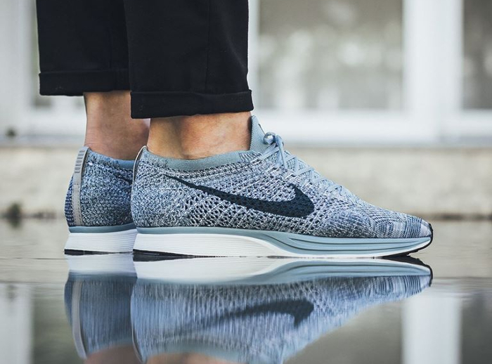 on sale 9a37c bdb14 3080d 40130  spain chaussure nike flyknit racer blueberry pastel 1 7c848  79b9e