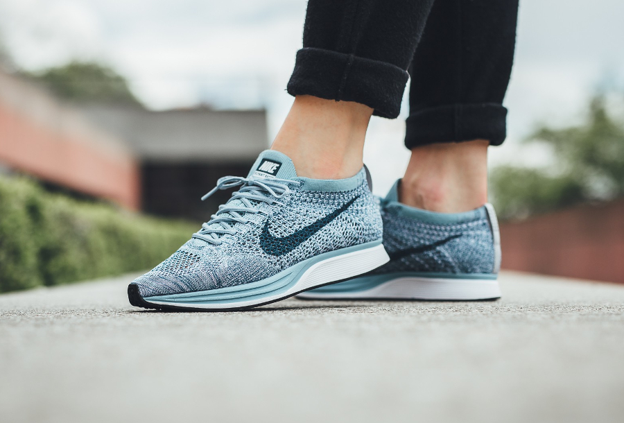 Chaussure Nike Flyknit Racer Blueberry Pastel