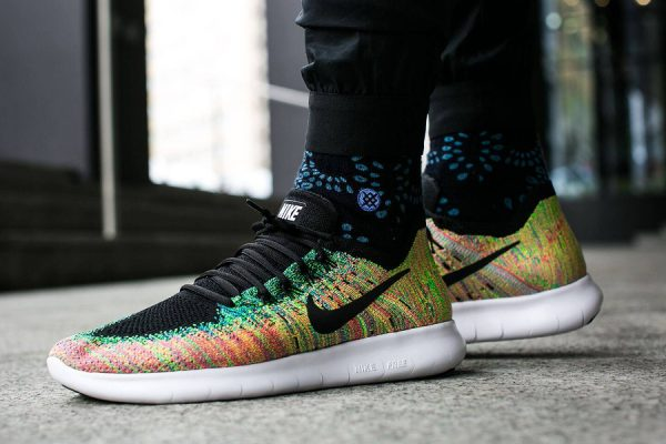 Chaussure Nike Free RN Run Flyknit 2017 Multicolor Blue Lagoon