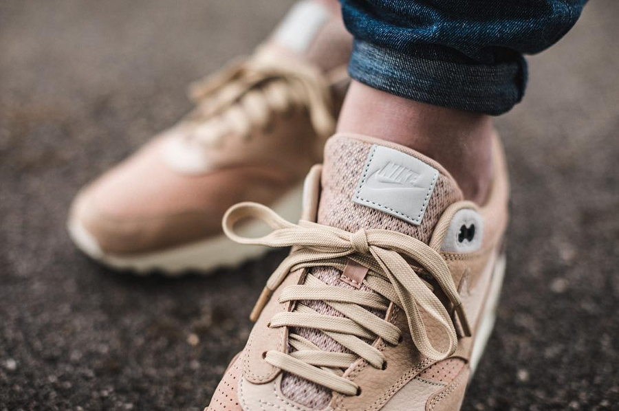 Chaussure NikeLab Air Max 1 Pinnacle Beige Mushroom homme (4)