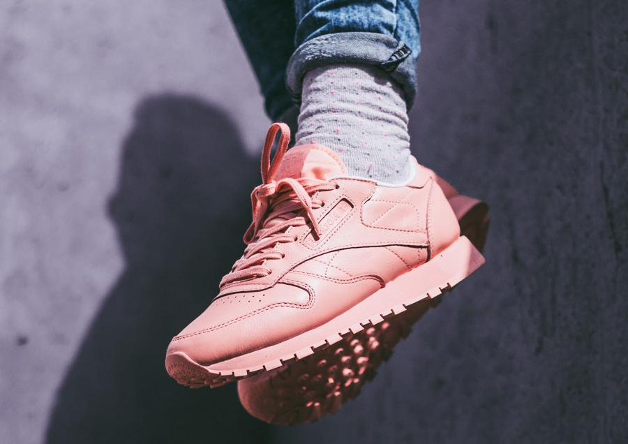 Chaussure Reebok Classic CL Leather femme Pastel Rose Patina Pink (2)