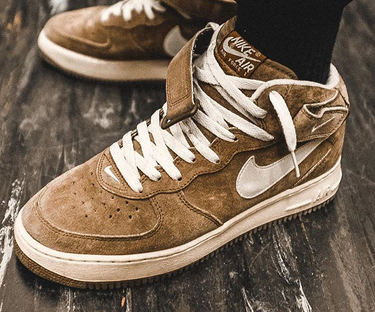 Nike Air Force 1 Mid Chocolate Cream (1998) - @drefdref