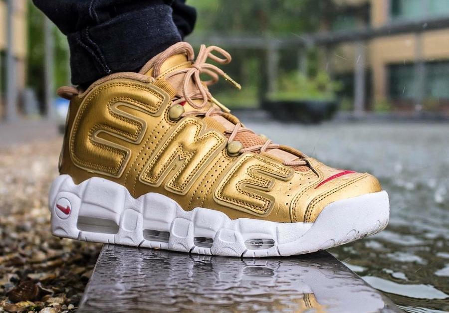 Supreme x Nike Air More Uptempo Suptempo Metallic Gold - @nutlab