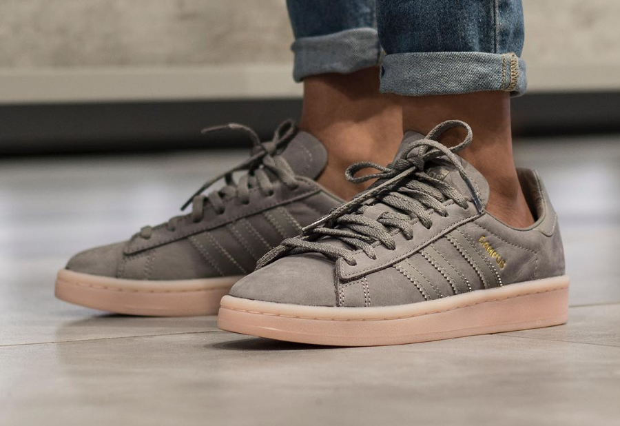 sale retailer 8d879 71598 Basket Adidas Campus femme Grey Three Icey Pink (1)