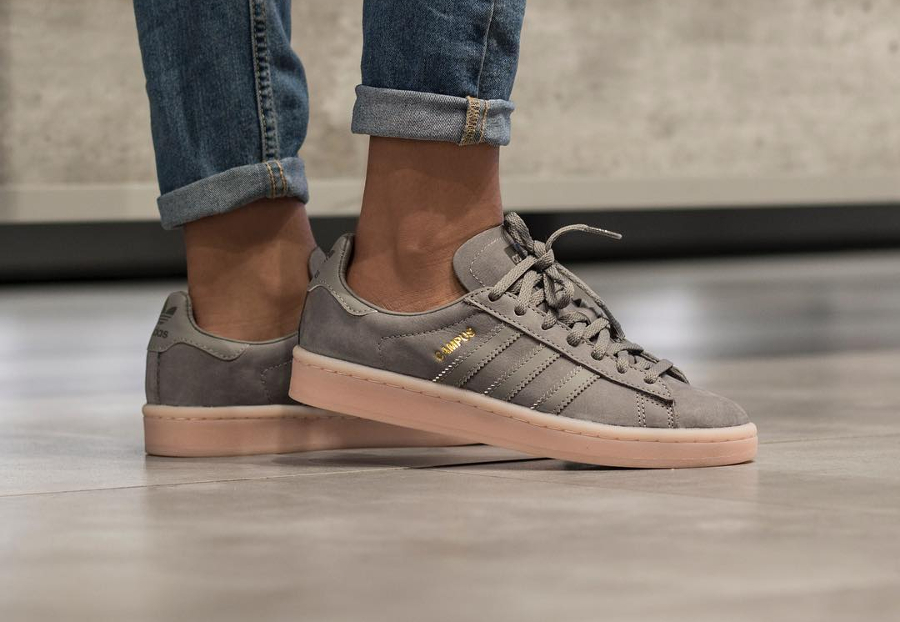 Basket Adidas Campus femme Grey Three Icey Pink (2)
