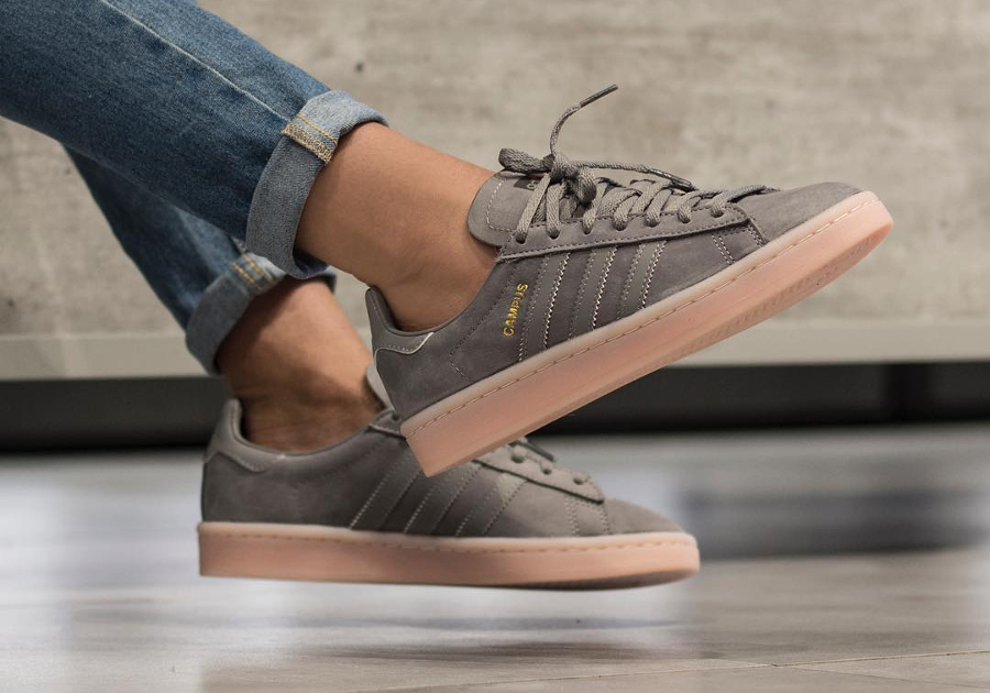Basket Adidas Campus femme Grey Three Icey Pink