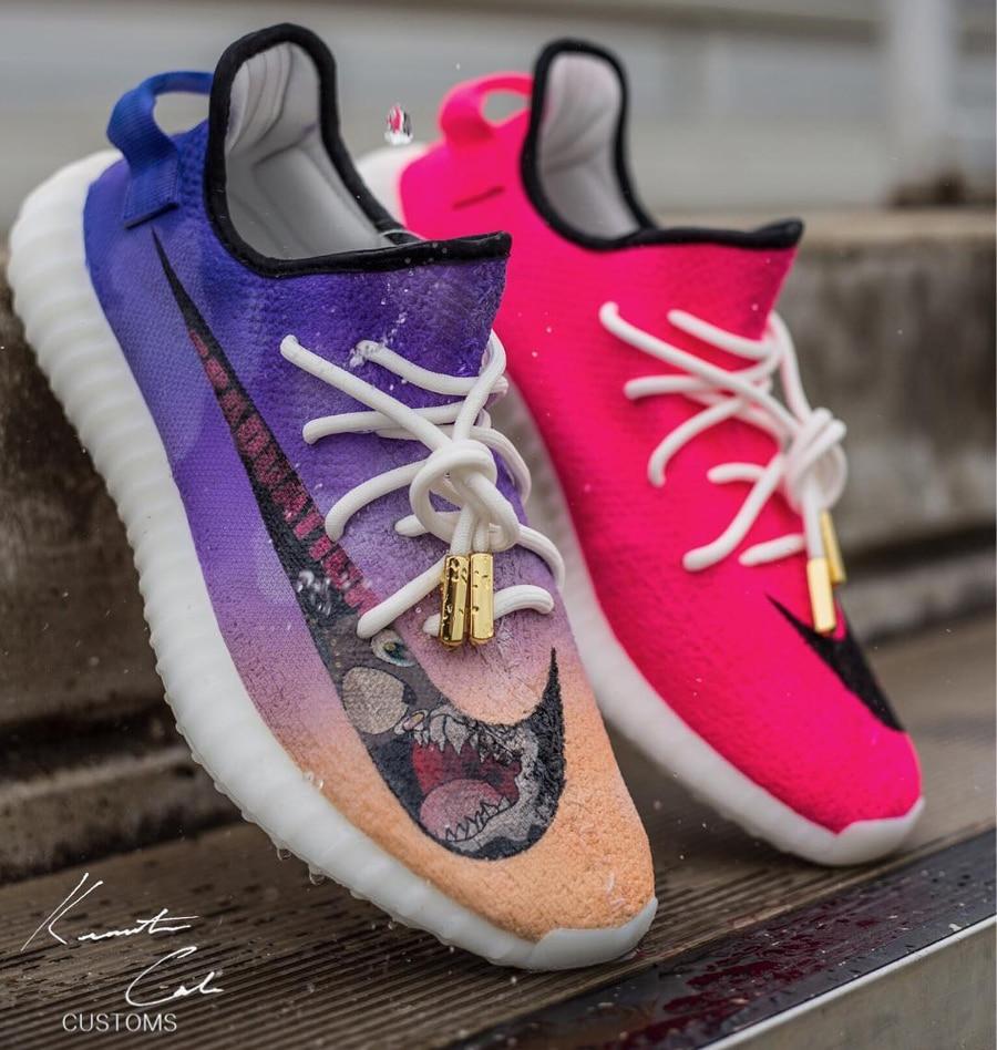 Basket Adidas Yeezy Boost 350 V2 Mercurial Swoosh (1)