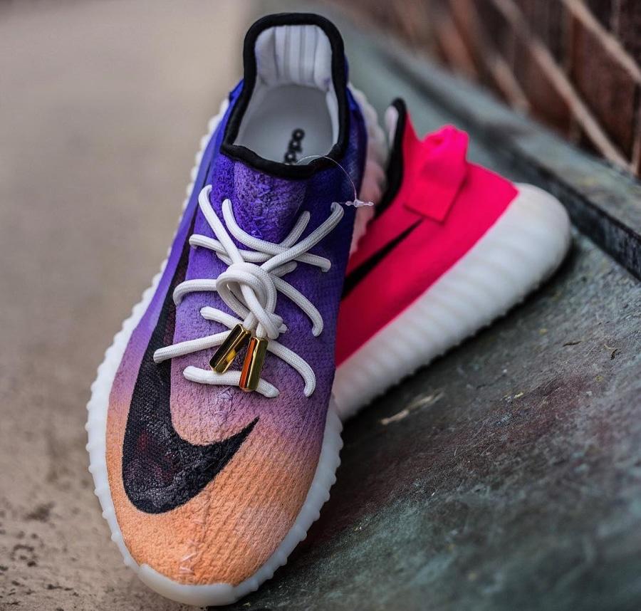 Basket Adidas Yeezy Boost 350 V2 Mercurial Swoosh (2)