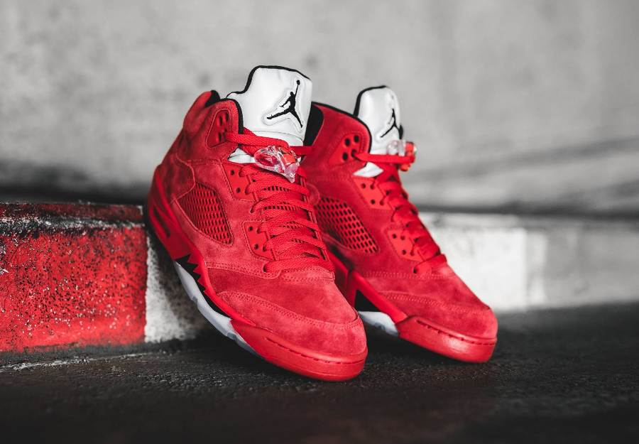 Basket Air Jordan 5 Retro daim rouge flight suit (1-1)