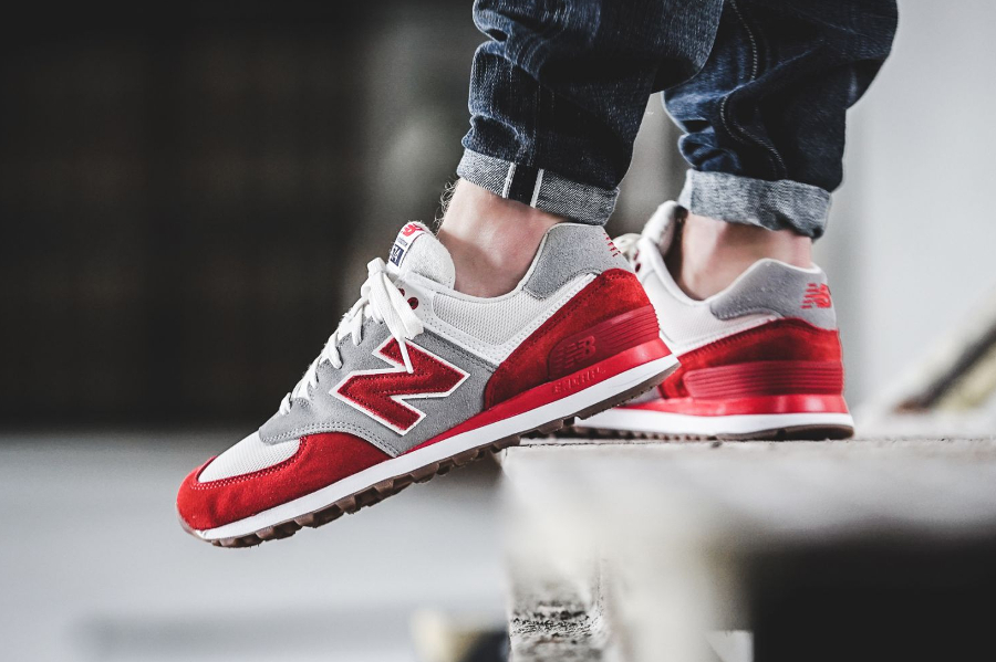 Basket New Balance ML 574 RSB Red (1)