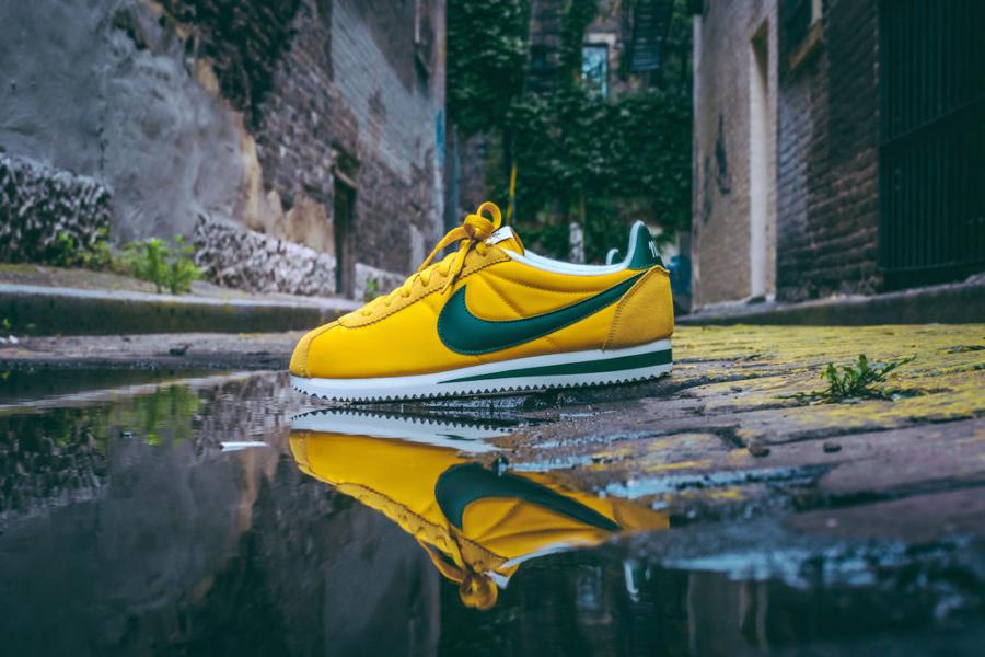 Basket Nike Cortez Nylon Premium Yellow Ochre Gorge Green (1)