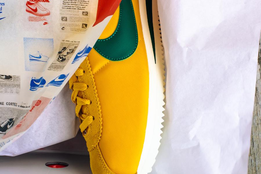 Basket Nike Cortez Nylon Premium Yellow Ochre Gorge Green (6)