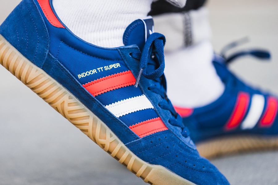 Chaussure Adidas Indoor Super Mystery Blue (2)