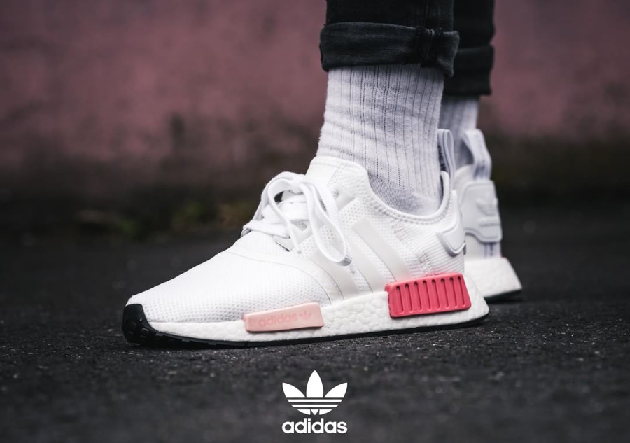 Chaussure Adidas NMD_R1 Blanche Icey Pink (femme)