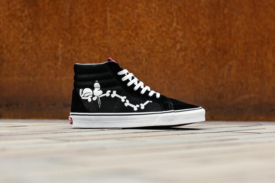 Chaussure Peanuts x Vans SK8 Hi Reissue Bones os (2)
