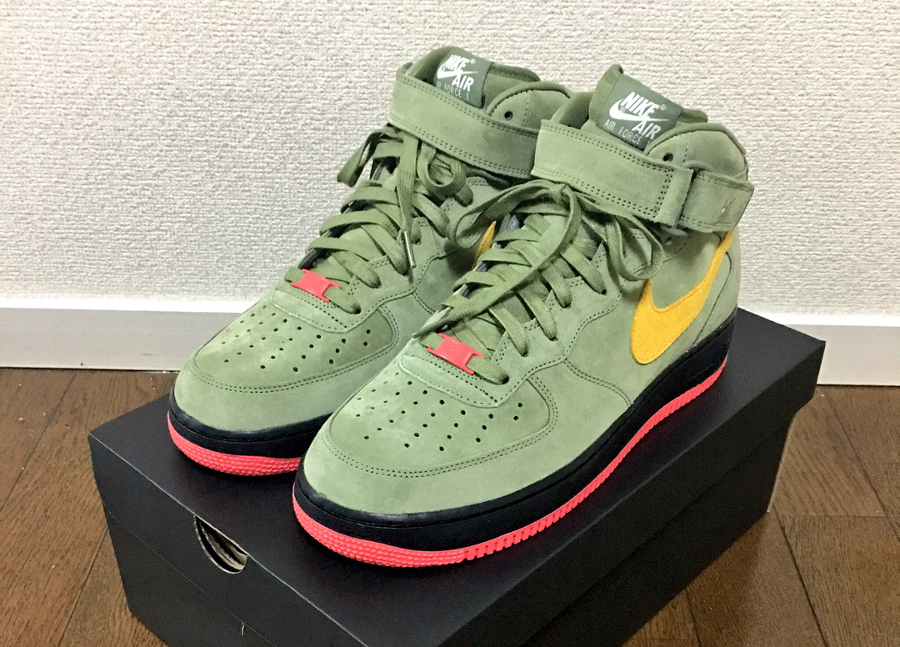 Nike Air Force 1 Low ID Summer Suede Military Green