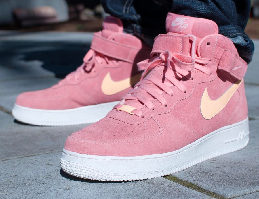 Nike Air Force 1 Mid ID Summer Suede Pink
