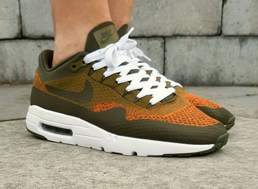 Nike Air Max 1 Ultra Flyknit Olive - @b0076