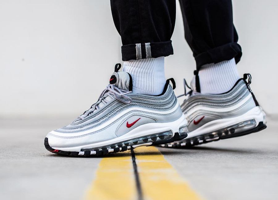 nouvelle collection 3fa04 eb063 Restock Nike Air Max 97 OG Metallic Silver Bullet QS : où l ...