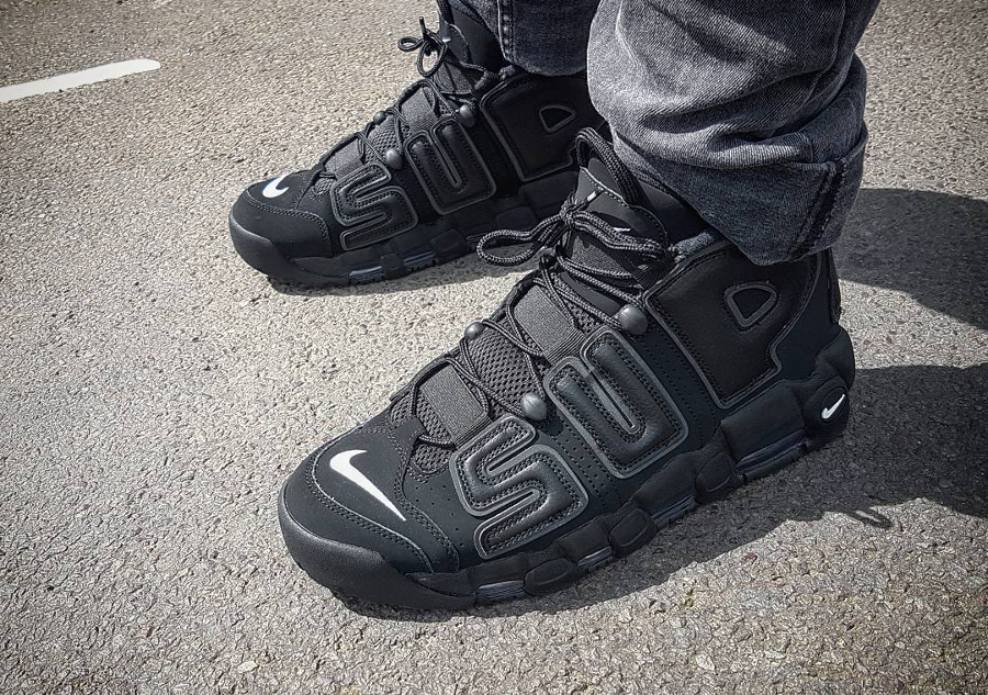 ... supreme x nike air more uptempo suptempo black ollywalnuts